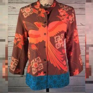Tops - Phoenix Rising Button Down Shirt Medium